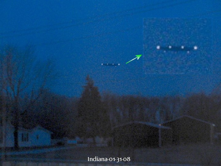 Very Clear Disc UFO Caught Over Indiana, UFO Sightings