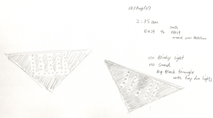 Drawing of UFO