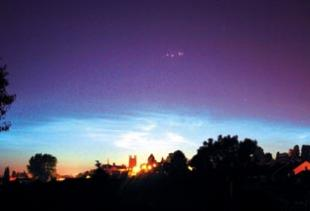 The colourful lights seen over Worcester were captured by News reader Andy Ball