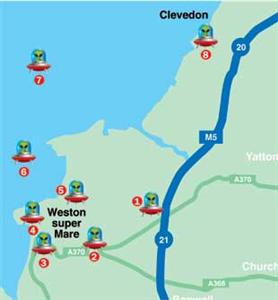 North Somerset Sightings Map