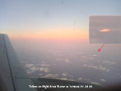 UFO, Plane Flight, Rome to Amman