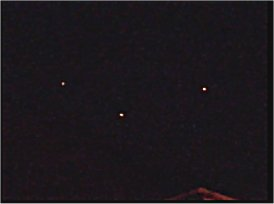 The mysterious lights over the Wrexham area