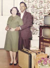 Betty and Barney Hill pose in an undated photo