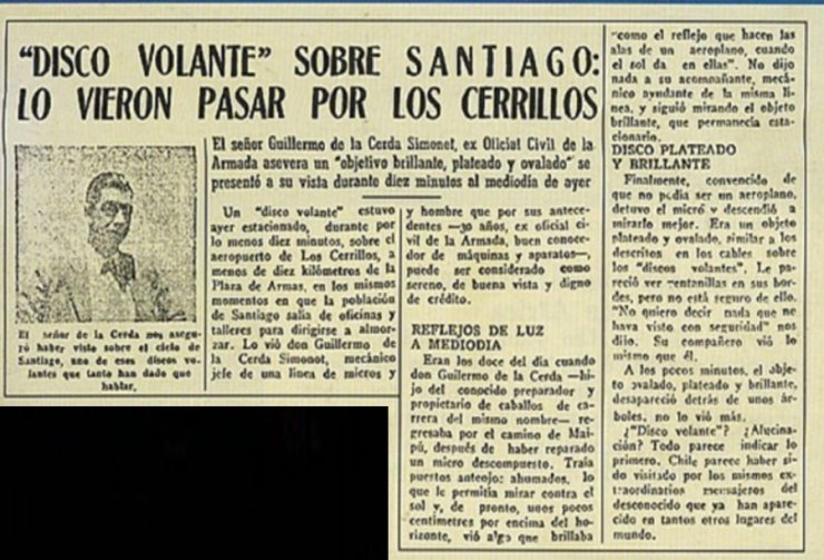 Newspaper Clipping, June, 1947, Chile