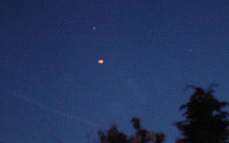 Orange ball-shaped UFO seen over Merseyside around 10.30pm on Sunday May 25 2009 In Liverpool Photo: LDPE