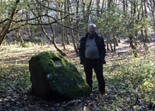 Ron Halliday in the clearing at Dechmont Woods