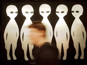 HISTORY: A patron walks past one of the displays at the International UFO Museum & Research Centre in Roswell
