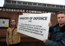 Dave Wright (left) and George Goodger who are organising a talk at Woodbridge Community Hall to coincide with the 30th anniversary of the Rendlesham UFO Incident