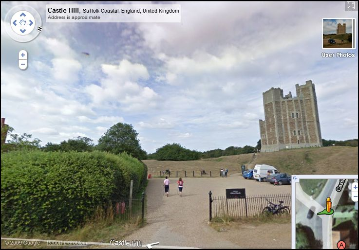 The UFO can been seen 'hovering' to the left of the castle