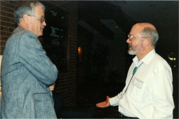 Karl Pflock (right) and Kevin Randle (left)