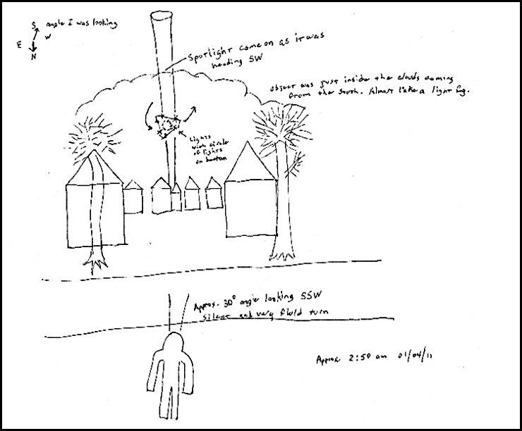 UFO - Vincennes, Indiana - 01-04-11