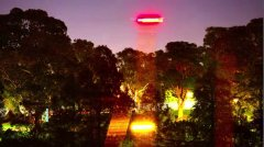 Actor and Rabbitohs co-owner Russell Crowe's footage of a 'UFO' over Sydney's Royal Botanic Gardens. Picture: YouTube