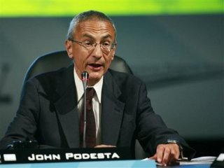 FILE - In this Monday, Aug. 10, 2009, file photo, Center for American Progress Action Fund President & CEO John Podesta speaks at the National Clean Energy Summit 2.0, at The Cox Pavillion in Las Vegas. (AP Photo/Eric Jamison, File) Podesta, a former chief of staff to President Bill Clinton and a trusted Democratic operative, will join the White House staff as a senior counselor to President Barack Obama, two persons familiar with the move said late Monday, Dec. 9, 2013.