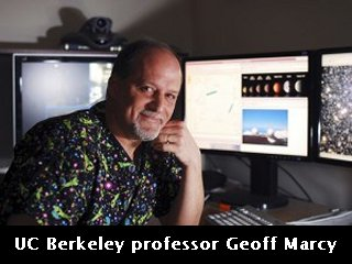 UC Berkeley professor Geoff Marcy sits in front of terminals that allow for remote control of the W. M. Keck Observatory, located near the summit of a Hawaiian volcano