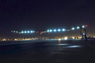 The Solar Impulse lifts off in San Francisco