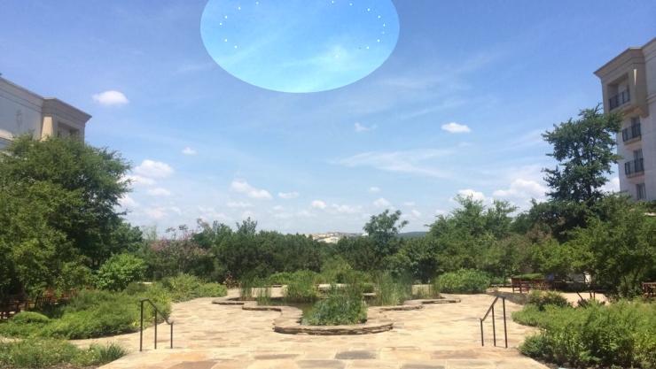 Circle of Lights over Austin, Texas