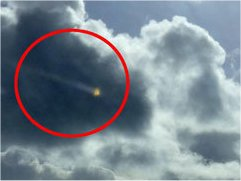 ORB: Michael Potter's photograph of a strange bright light in the sky [MERCURY PRESS AND MEDIA]
