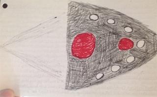 UFO Drawing - Indiana UFO Sighting