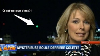The Montreal UFO even appeared behind reporter Colette Provencher during a broadcast