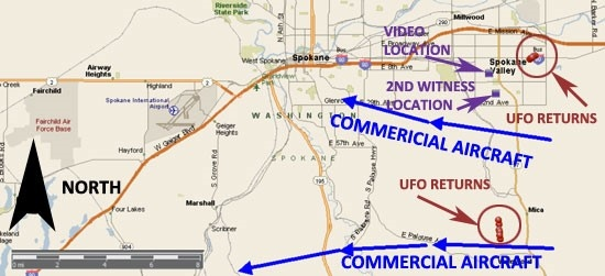 UFO Maps of Radar Returns - MUFON Case of the Month, August, 2014