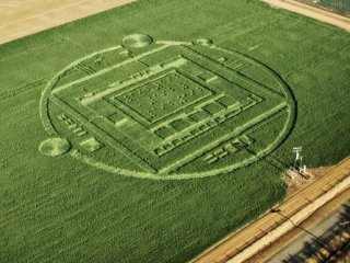 """Photo by NVIDIA/AP This photo provided by NVIDIA shows a 310-foot """"crop circle"""" in a California barley field that mystified locals this week was explained Sunday Jan. 6, 2014: it was a publicity stunt by Nvidia Corp., a maker of chips for PCs and smartphones. The crop circle near Chualar, Calif., contained a stylized image of a computer chip and the number """"192"""" in Braille. On Sunday, the company announced the Tegra K1, a new chip for tablets and smartphones that contains 192 computing """"cores,"""" or mini-computers, for graphics applications."""