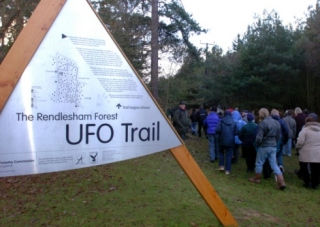 The UFO Trail in Rendlesham, UK