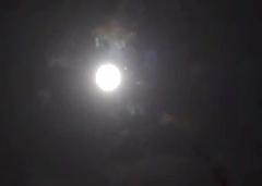 Unidentified Lights near Moon