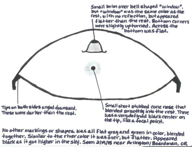 UFO over Arlington, Oregon
