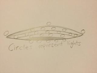 Witness Sketch of UFO