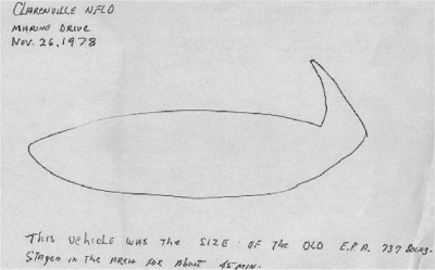 Const. Blackwood's sketch of the object.