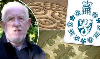 David Clayton, crop circles and the MI5 logo