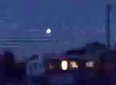 Still from video footage captured by Josh Elton of Gorokan of what he claims is a UFO