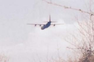 Caroline Collins caught the plane on camera near Warrenpoint