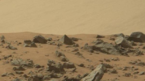 Nasa image of 'pyramid' on Mars