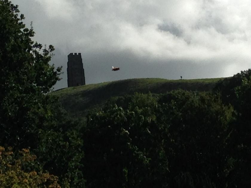 UFO over Chalice Well