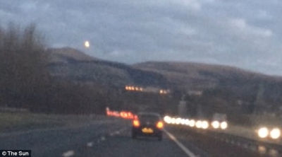Unexplained light: A shocked motorist has captured the lights from an apparent UFO on his dashcam. The video of the lights moving along the road was taken while the man was driving on the M8, close to Edinburgh.