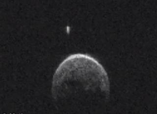 UFO near Asteroid