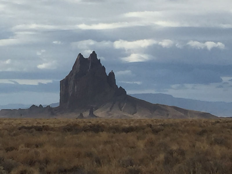 UFO over Shiprock, New Mexico