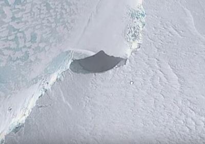 Alien Ship on Antartica
