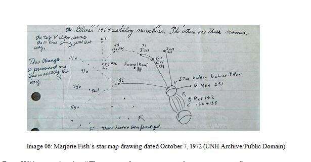 Marjorie Fish's star map drawing