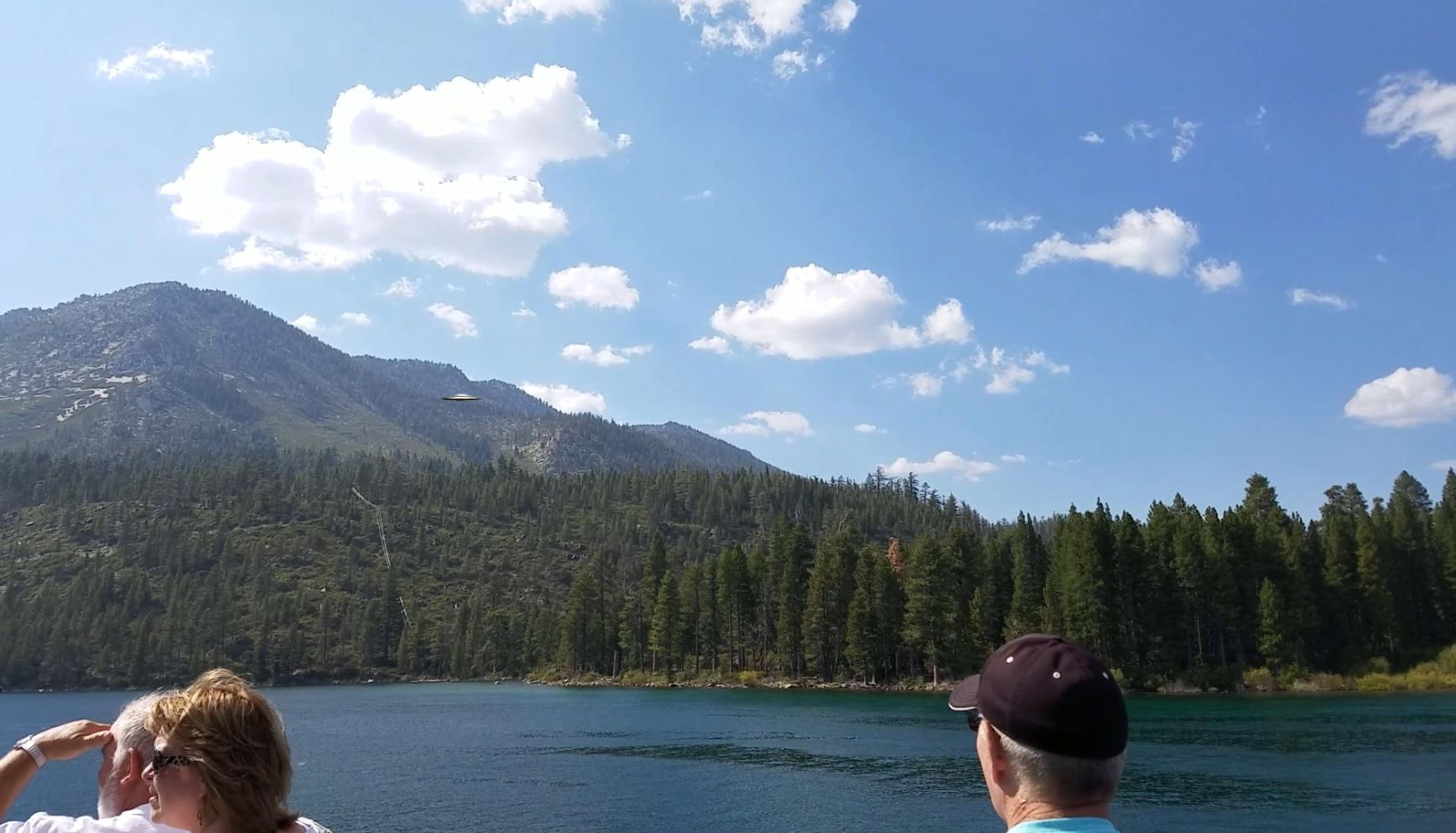 UFO over Lake Tahoe, Nevada