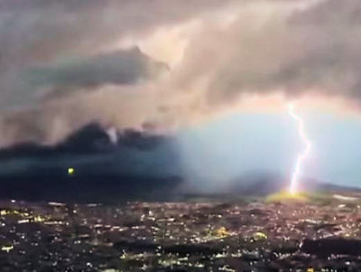 UFO in Mexico Storm