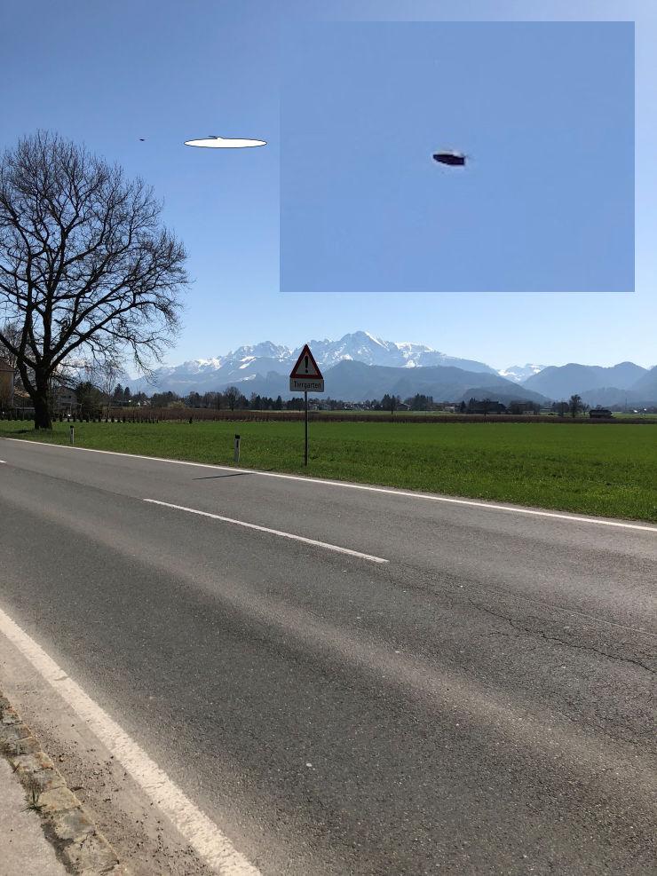 UFO over Salzburg, Austria