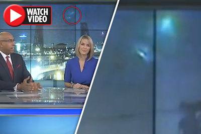 UFO caught on Live Newscast