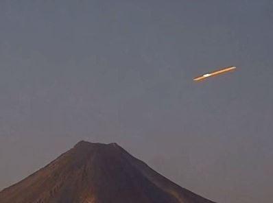 UFO over Volcano