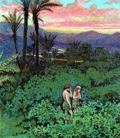 Depiction of Adam & Eve