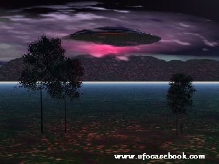 UFO over Mountain
