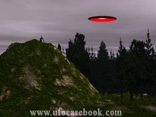 Red, Spherical UFO
