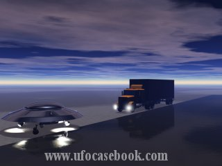 An Alien Detour - Two Russian Truck Drivers See Landed