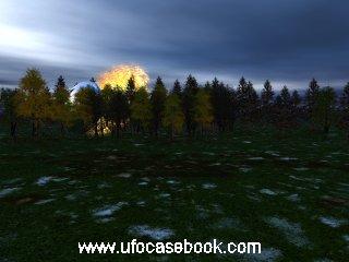 Depiction of UFO Crash